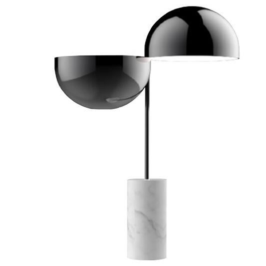 elisabeth sculpturale lampe au pied de marbre de carrare. Black Bedroom Furniture Sets. Home Design Ideas